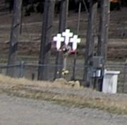 trio of crosses